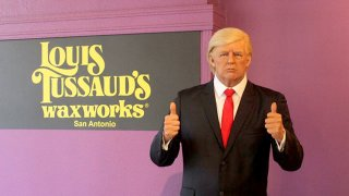 A wax statue of Donald Trump on display at Louis Tussaud's Palace of Wax in San Antonio, Texas.