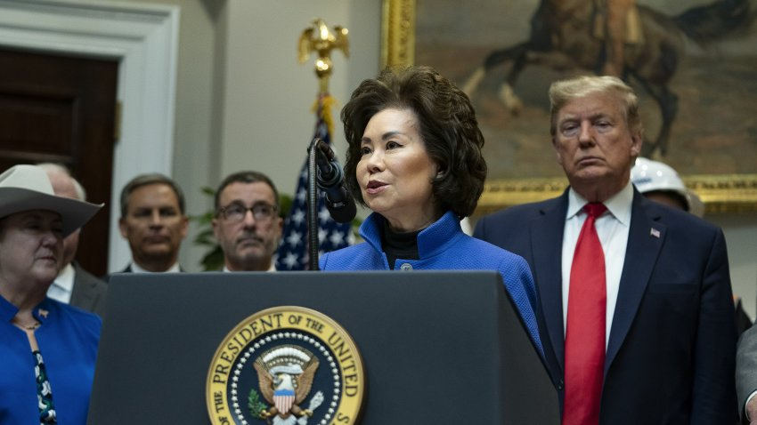 Elaine Chao, U.S. secretary of transportation, speaks during an event with U.S. President Donald Trump to announce proposed new environmental policies at the White House in Washington, D.C., U.S., on Thursday, Jan. 9, 2020. Trump spoke about proposed scale backs of the National Environmental Policy Act (NEPA).