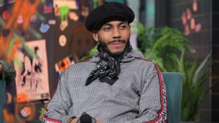 """NEW YORK, NEW YORK - DECEMBER 18: Jahmil French visits Build to discuss the series """"Soundtrack"""" at Build Studio on December 18, 2019 in New York City."""