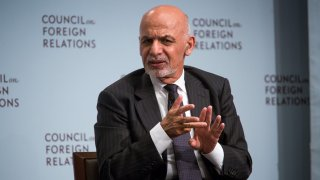 Ashraf Ghani, Afghanistan's president, speaks at the Council on Foreign Relations in New York, U.S., on Thursday, Sept. 21, 2017. PresidentGhani will discuss the challenges facing Afghanistan, including its fight against terror groups and his country's relationship with the United States.