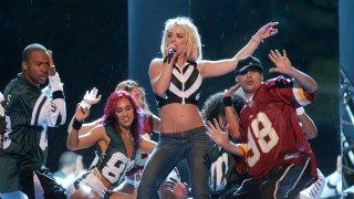 Britney Spears wearing low-rise jeans