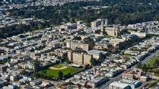 An aerial view of the University of San Francisco
