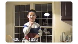 A still image from a Google commercial featuring Tony, a child of parents who are deaf.