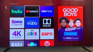 The YouTube TV channel is seen on the Roku platform