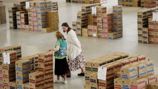Warehouse in Atlanta where Girl Scout cookies are stored.