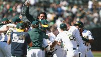 Mitch Moreland Clutch Yet Again in Athletics' Eighth Straight Win