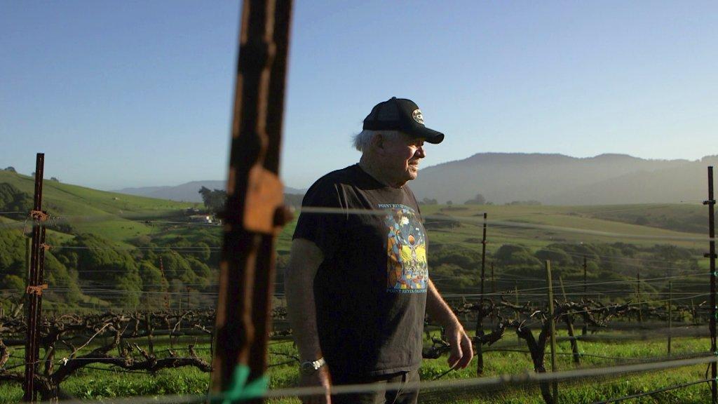 Point Reyes vintner Steve Doughty stands in his vineyard in Point Reyes.