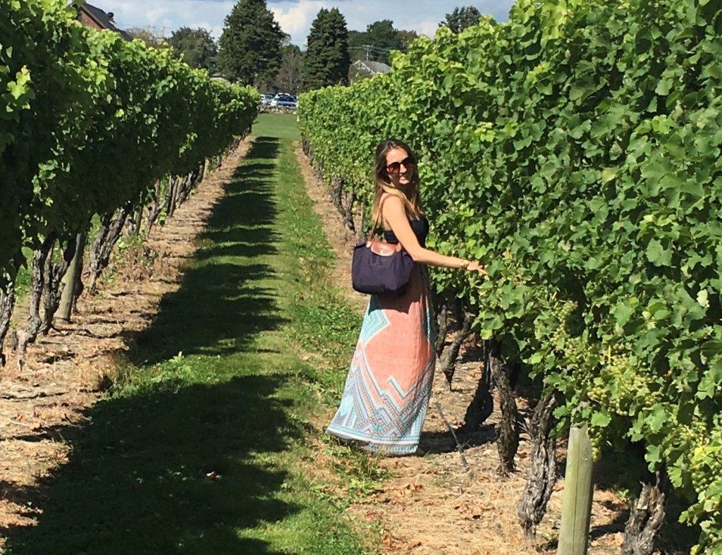 Amanda Pensack visiting a winery. Photo Courtesy: Amanda Pensack.