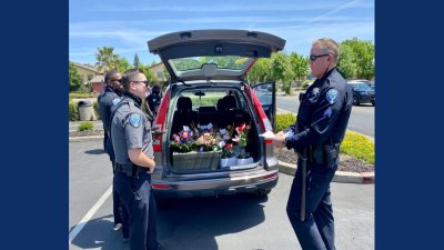 Fairfield Police Deliver Mother's Day Flowers After Driver Arrested for DUI