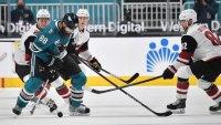Kessel, Soderstrom Lead Coyotes Past Sharks 5-2