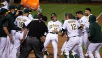 Manaea's No-Hit Bid Ends, A's Win on Second Big Hit by Brown