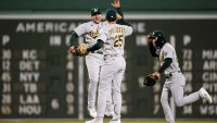 Kaprielian Picks Up 1st MLB Win as A's Outlast Red Sox 4-1