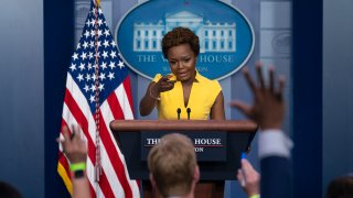 White House deputy press secretary Karine Jean-Pierre speaks during a press briefing at the White House, Wednesday, May 26, 2021, in Washington.