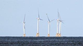 Wind turbines off Rhode Island
