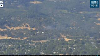 Sonoma brush fire