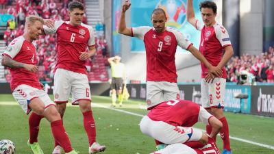 Denmark Soccer Midfielder Collapses on Field