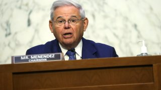 U.S. Sen. Robert Menendez (D-NJ) speaks during a hearing before Senate Foreign Relations Committee at Hart Senate Office Building June 8, 2021 on Capitol Hill in Washington, DC. The committee held a hearing to review State Department's budget request for FY2022.