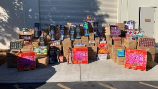 Illegal fireworks seized in the Bay Area.