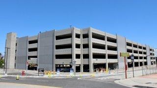 A new parking garage at Mineta San Jose International Airport.