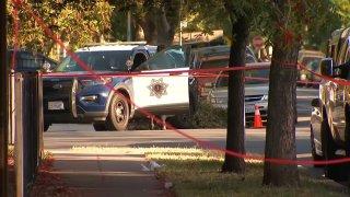 San Jose police investigate a shooting.