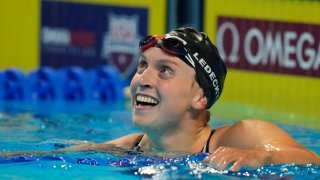 Katie Ledecky in a swimming pool