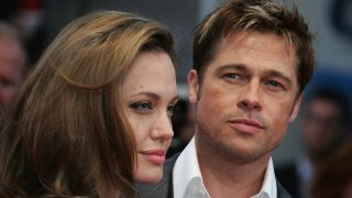 (Left) Angelina Jolie, (Right) Brad Pitt