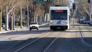 File image of a VTA light rail train.