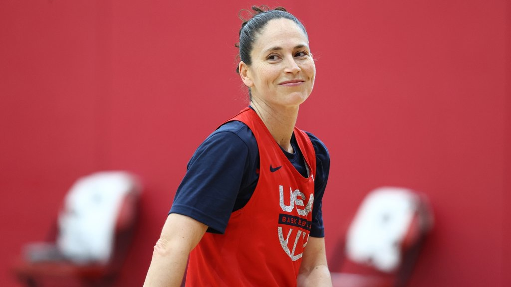 Sue Bird #6 of the USA Basketball Womens National Team smiles during USAB Womens National Team signifier    astatine  the Mendenhall Center connected  July 17, 2021 successful  Las Vegas, Nevada.