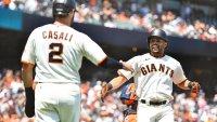 Giants Crush Five More Home Runs in Wild 8-6 Win Over Astros