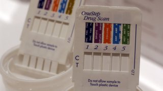 Vials to be used to collect urine samples
