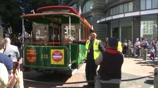 Cable cars back in service in San Francisco.