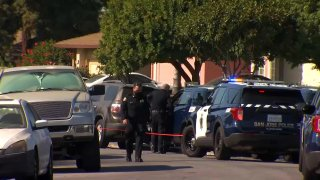 Police investigate a shooting in San Jose.