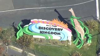 Six Flags Discovery Kingdom sign.