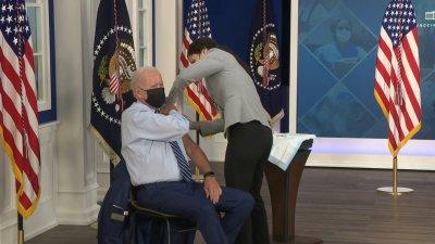 Biden Gets COVID-19 Booster Shot