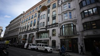 An exterior view of 56-60 Conduit Street in the Mayfair district of London,