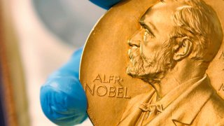 gold Nobel Prize medal