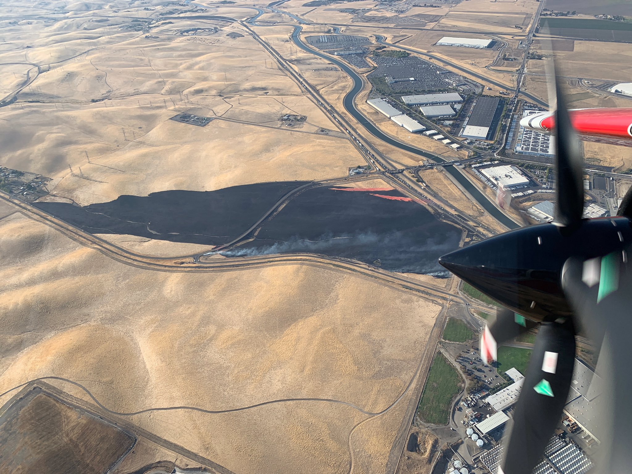 Cal Fire Contains Blaze on Patterson Pass Road Near Tracy