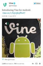 Vine Surpasses Instagram on Google Play