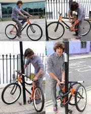 Brilliant Bike Design Wraps Itself Around Poles to Lock up