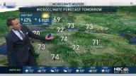 Jeff's Forecast: 70s and Spotty Rain