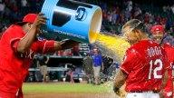 APTOPIX Angels Rangers Baseball