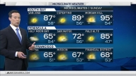Heat Continues Inland