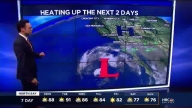 Heating up Monday, Showers Ahead
