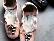 Studded Ballet Slippers