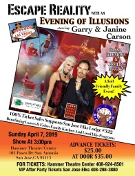 San Jose Elks Lodge Hosts Appearance by Master Illusionist Garry Carson