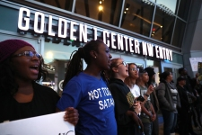 Protesters Block Arena After Sacramento Police Shooting