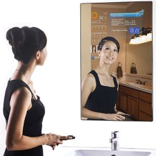 Interactive Mirror Simultaneously Increases Narcissism and Productivity