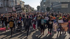 MLK Day Marches in Bay Area Take Aim at Trump