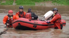 Crews Rescue Homeless Trapped By Rising Flood Waters