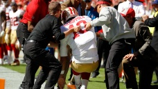 Shanahan Says 49ers 'Fearing ACL' Injury for Garoppolo